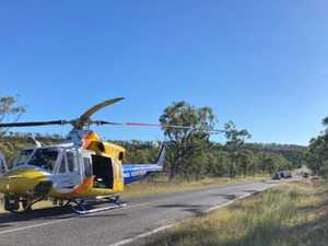 Driver hospitalised after crash near CQ water hole