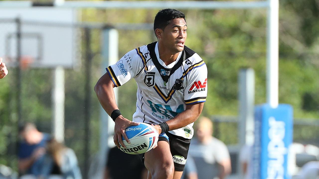 Anthony Milford playing for Souths Logan against North Devils. Photographer: Liam Kidston.