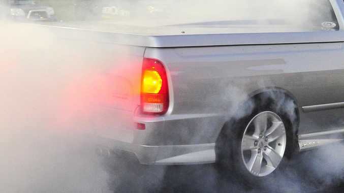 Young man allegedly steals car momentarily to perform burnout
