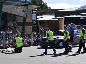'Confronting': TCC students re-enact fatal car crash
