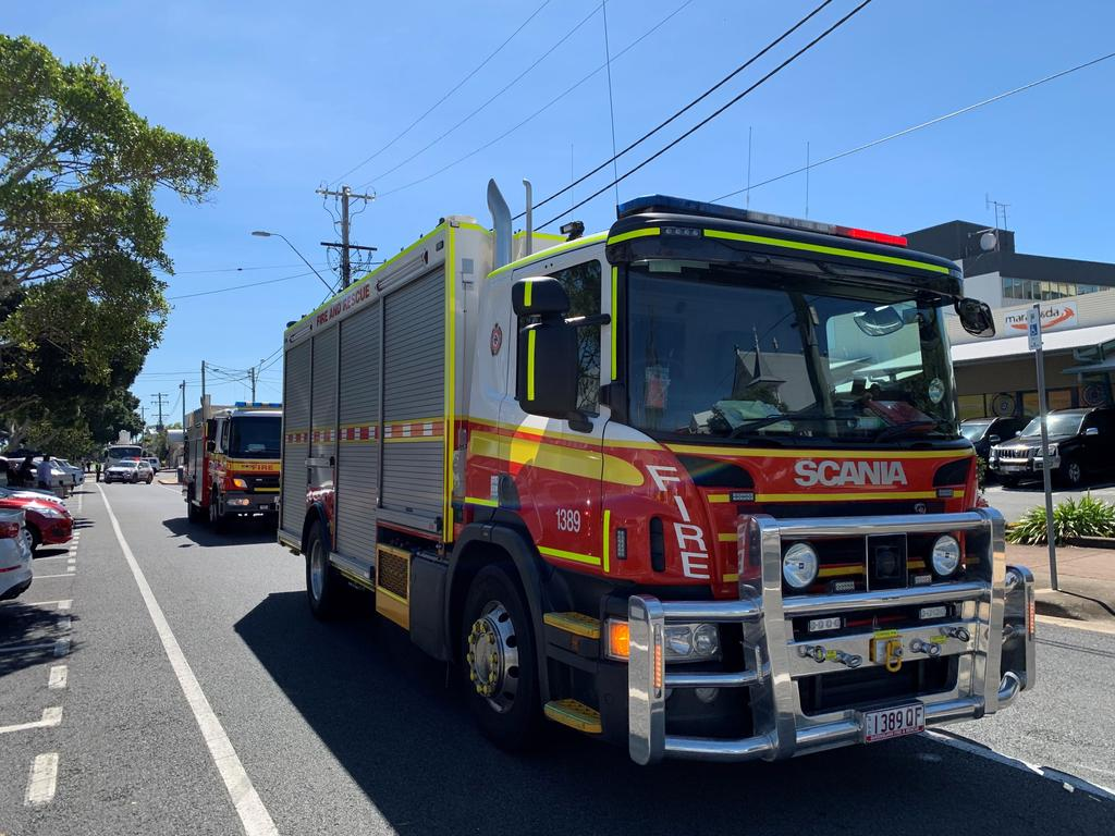 Firefighters have responded to a unit fire in Buderim and have contained the blaze. Picture: Rae Wilson