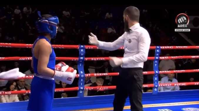 Dictator's son wins boxing fight