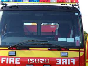 Fireys race to trailer fire as wheat goes up in flames