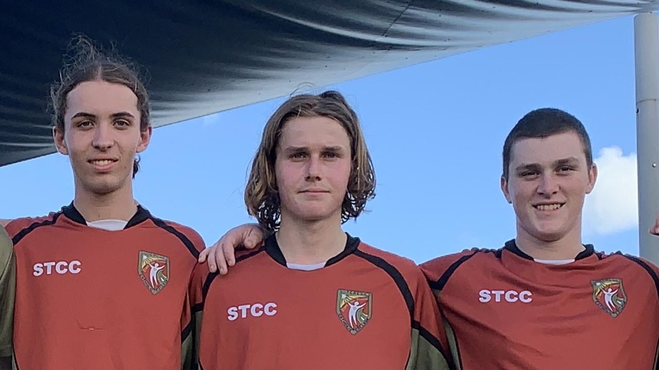 St Teresa's players Jack Williams, Ben Francis and Campbell Verster-Deer