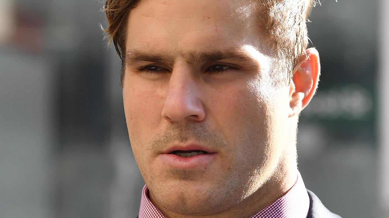 A friend of NRL star Jack de Belin has told a court what he saw on the night of an alleged rape of a 19-year-old woman in Wollongong.