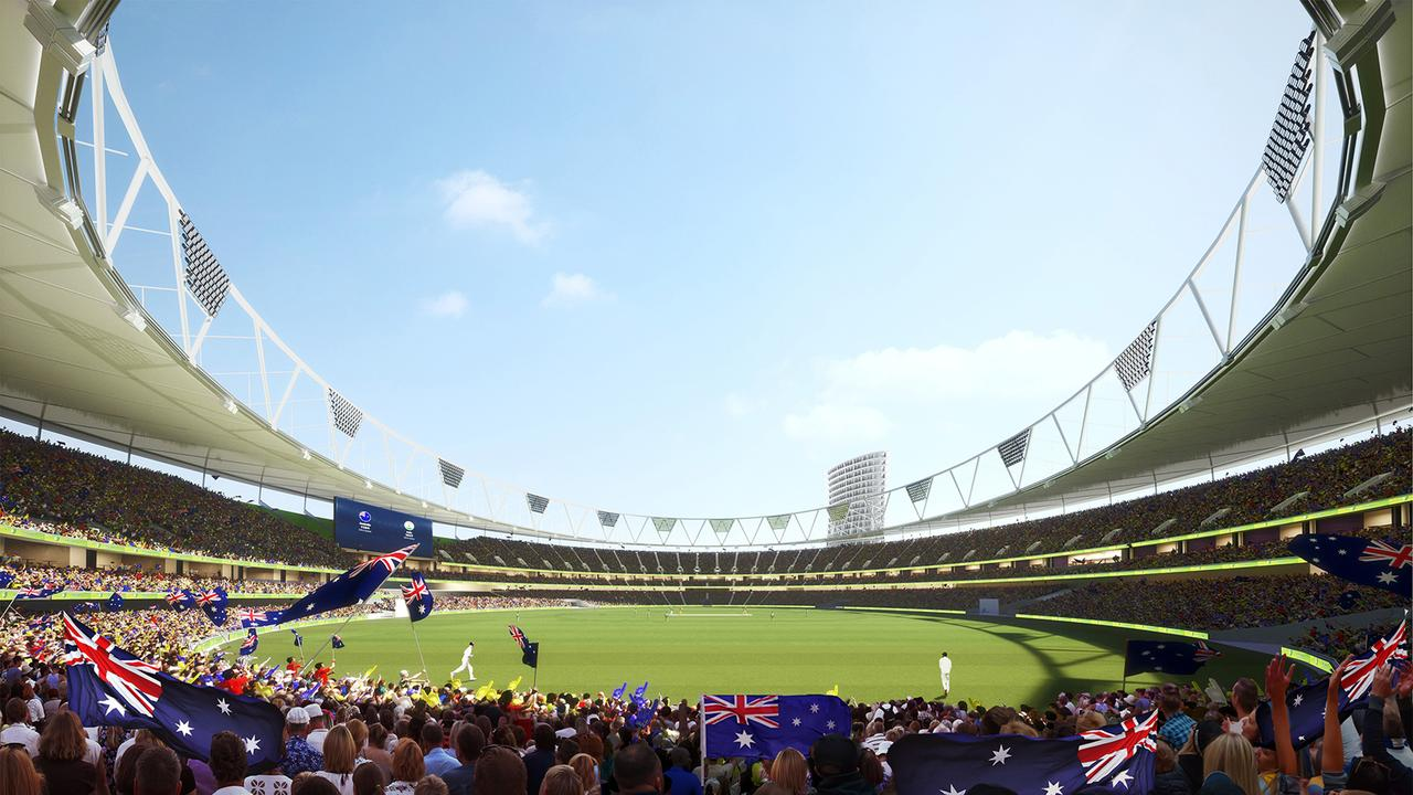 An artist's impression of the proposed Gabba redevelopment.