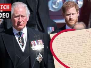Revealed: Prince Harry's 'deeply personal note' to Dad Charles