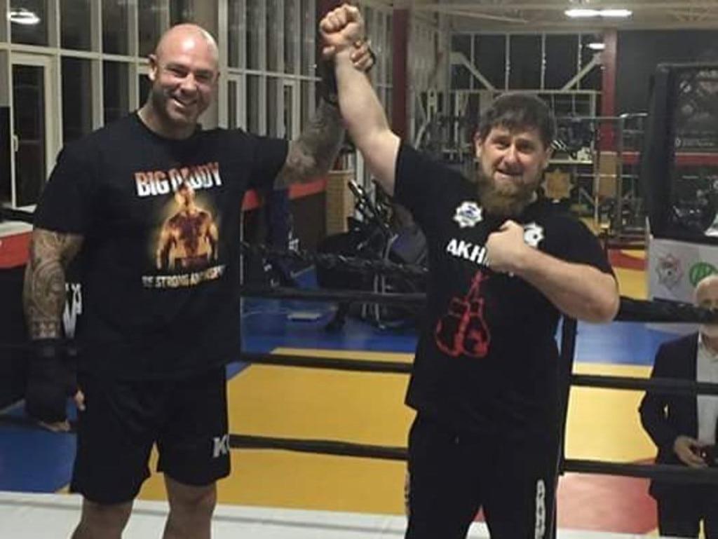 Lucas Browne with Ramzan Kadyrov in 2016.