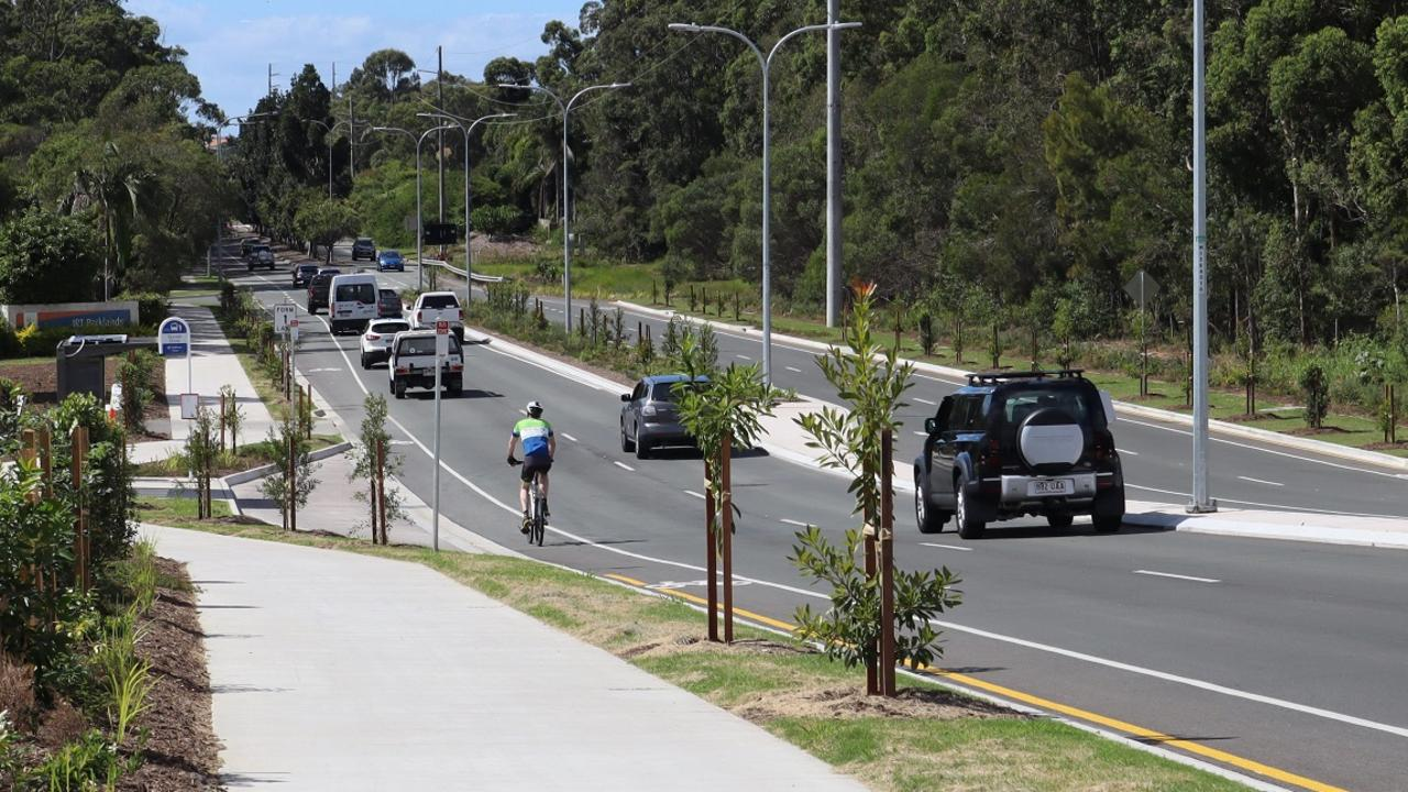 Transport Minister Mark Bailey joined Sunshine Coast Council Mayor Mark Jamieson to announce the completion of the $17.6m upgrades to Parklands Boulevard.