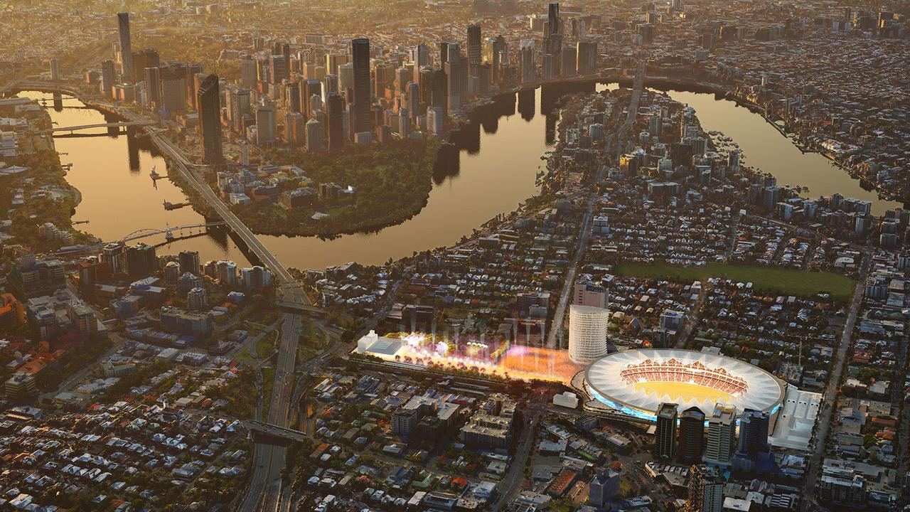 An artists impression of what a transformed Gabba would look like.