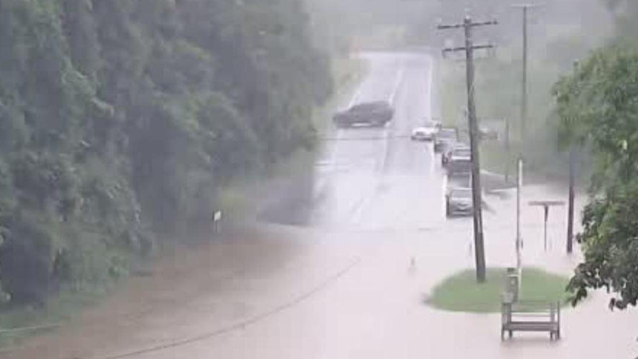Gillies Range Road is closed due to flooding. PHOTO: Cairns Traffic Management Centre/ Qld Police