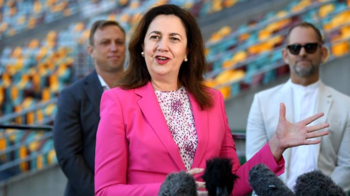 Premier Annastacia Palaszczuk has urged businesses right across the state to take advantage of a Brisbane Olympics. Picture: NCA NewsWire / Dan Peled