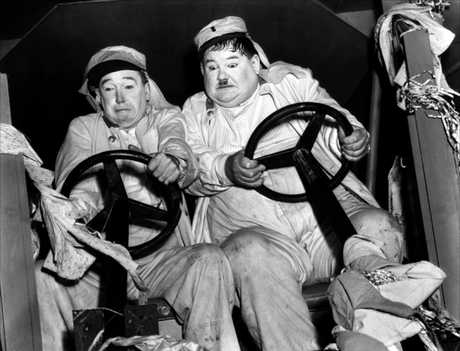 Laurel and Hardy in the 1939 film The Flying Deuces.