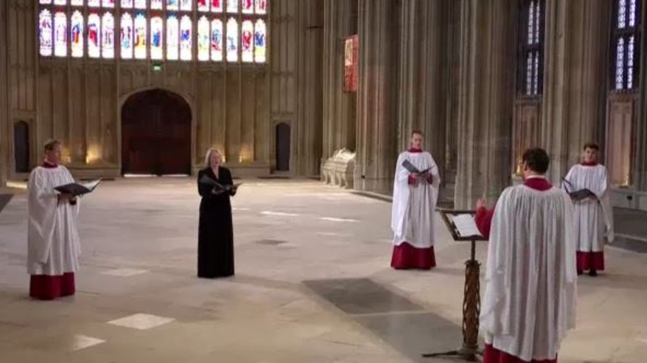 Australian soprano Miriam Allan performs at the funeral of Prince Philip. Source ABC News