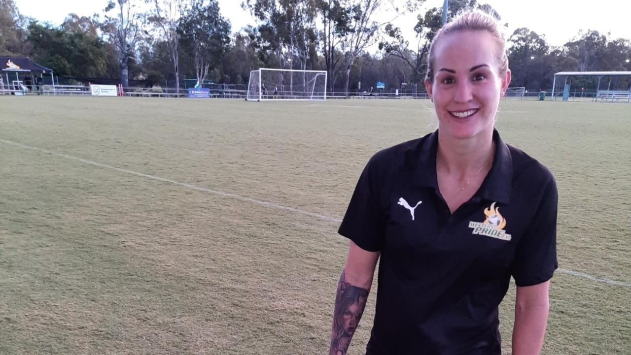 Western Pride footballer Kate Webb is enjoying the higher level competition with the Ipswich club. Picture: David Lems