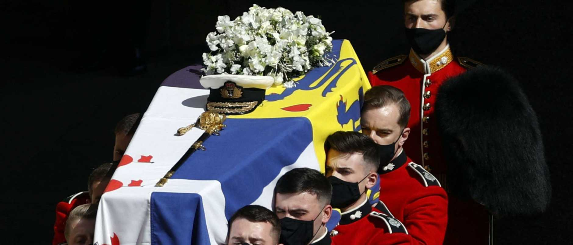 A  mum was taken by surprise while watching Prince Philip's funeral service on television, when a very familiar face came into view.