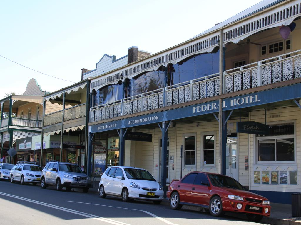 The Federal Hotel on Hyde Street in Bellingen. Picture: AAP