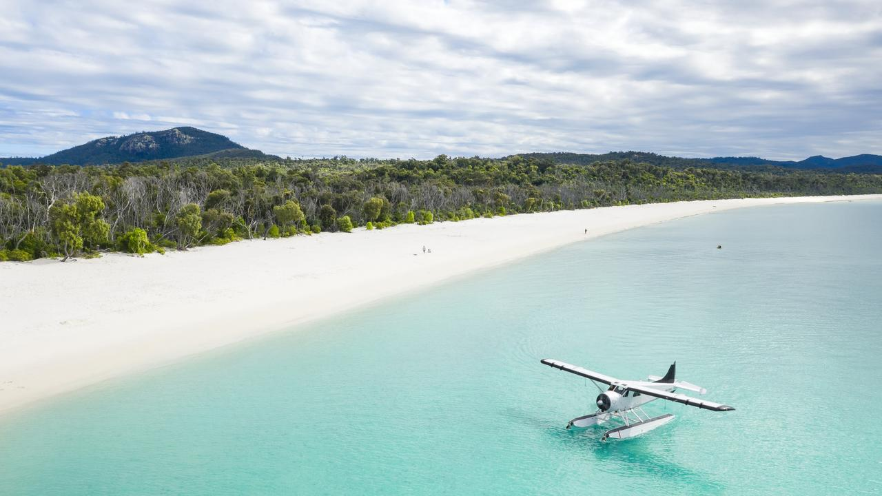 It was revealed the Qantas mystery flight was to Hamilton Island in the Whitsundays.