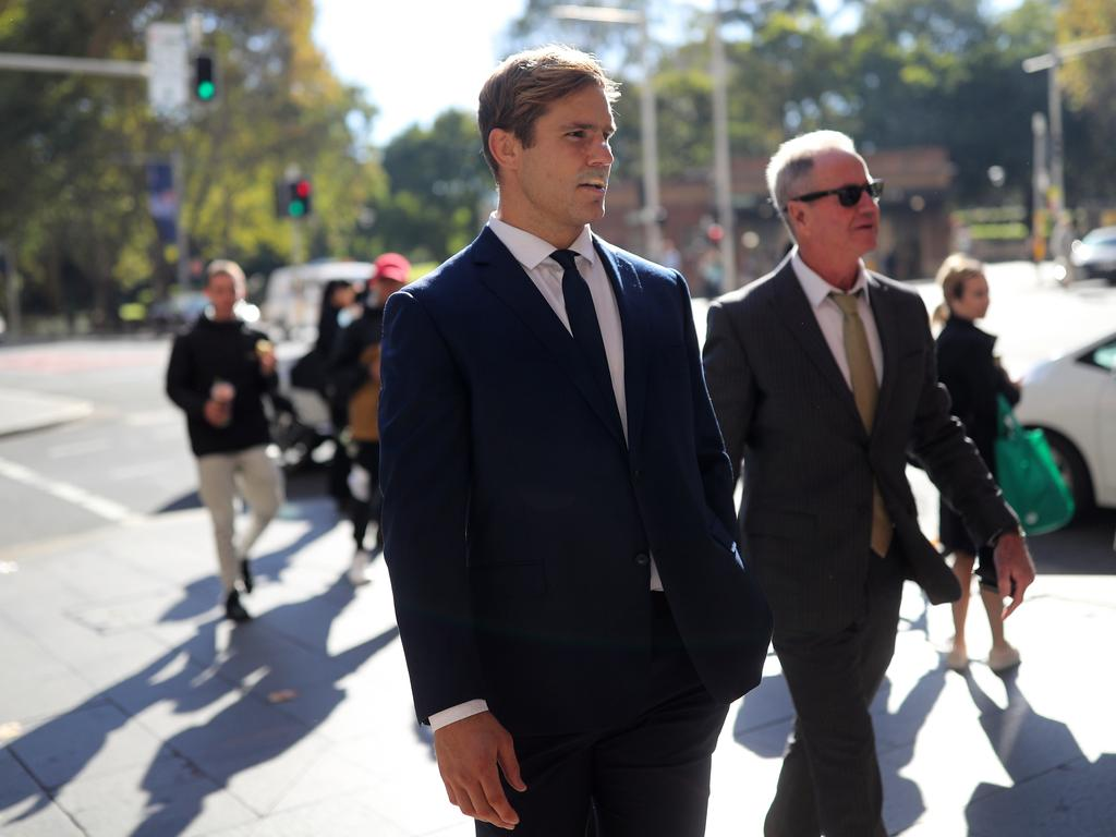 The court heard Jack de Belin apologised to the housemate. Picture: NCA NewsWire / Christian Gilles
