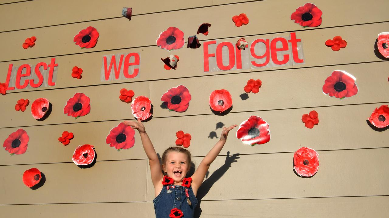 Poppy Haymes at Parklakes was ready to commemorate Anzac Day last year. Picture: John McCutcheon