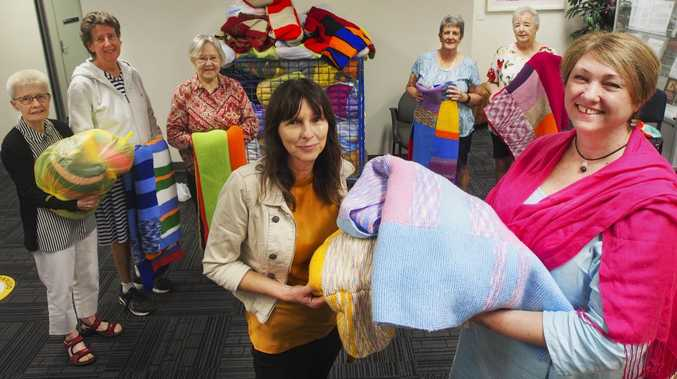Crafters donate 100+ handmade blankets to DV victims