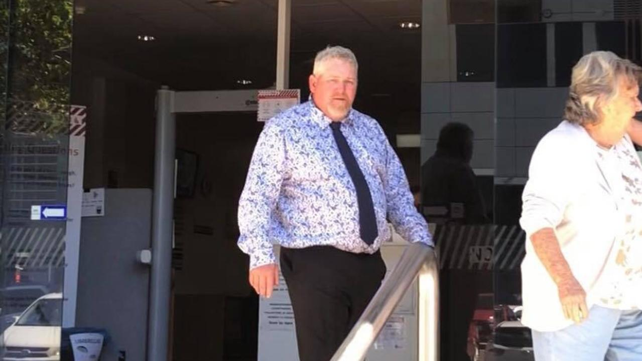 Angus Boyd Bennett leaves Maroochydore District Court on Wednesday after being sentenced for terrorising two men. Picture: Laura Pettigrew.