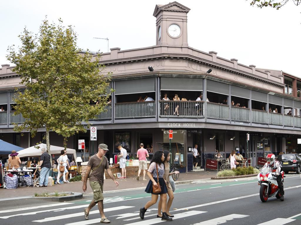 The Clock Hotel on Crown Street in Surry Hills