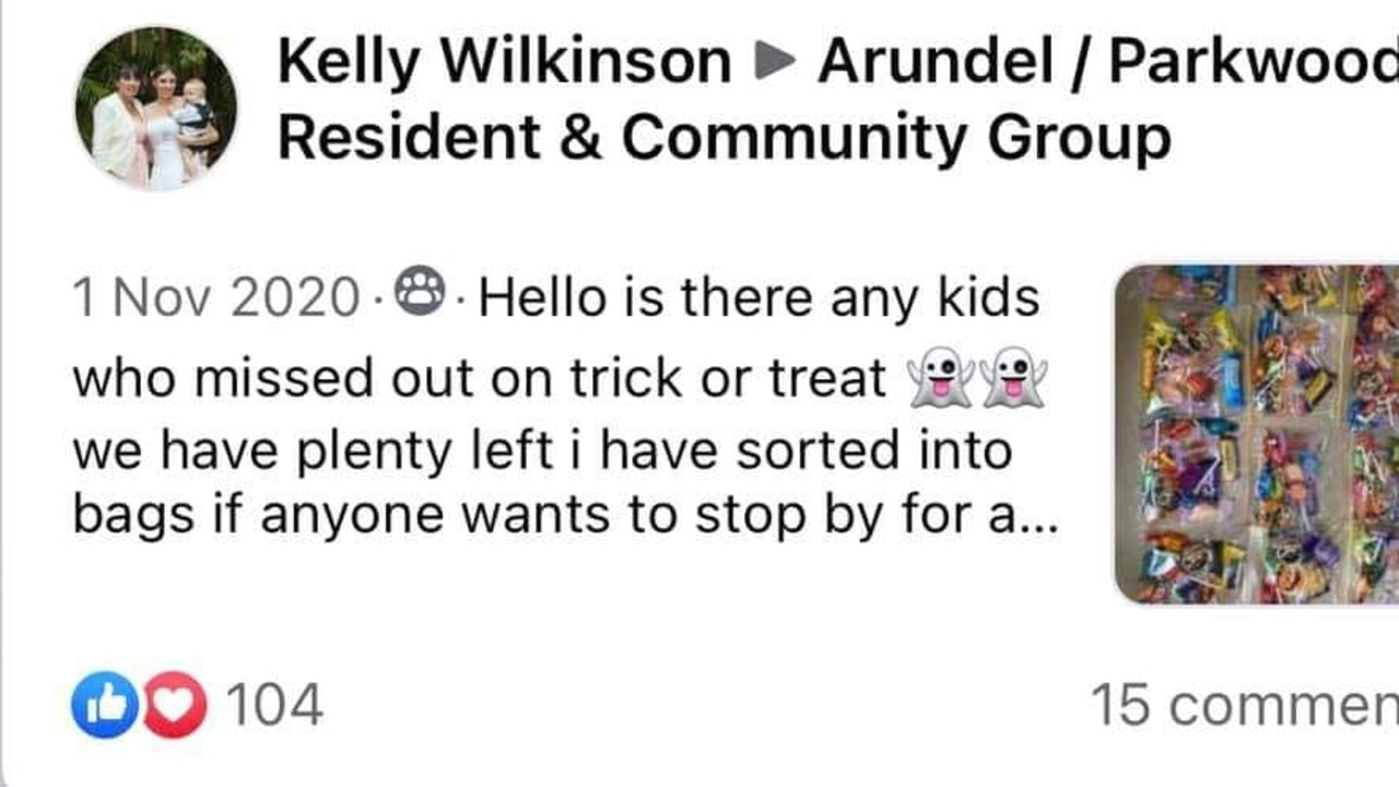 Facebook post from Kelly Wilkinson.