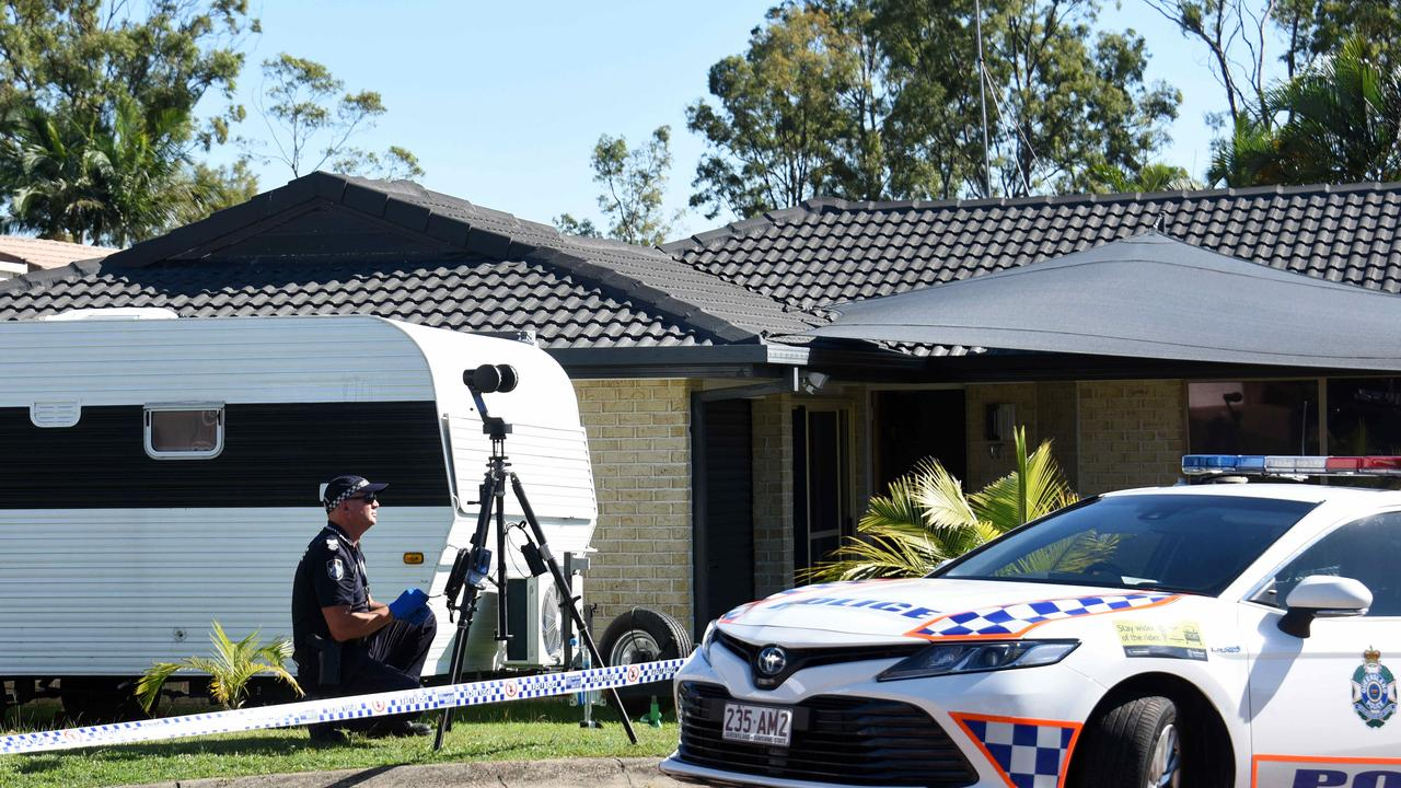 Police at the scene at Spikes Court Arundel where a man has been charged with the murder of mother Kelly Wilkinson. Picture: NCA NewsWire / Steve Holland