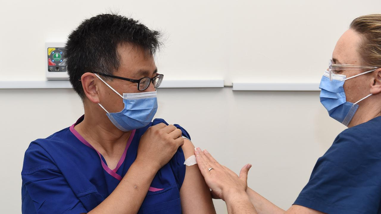 Deputy chief health officer Prof Allan Cheng has already received his jab. Picture: Josie Hayden