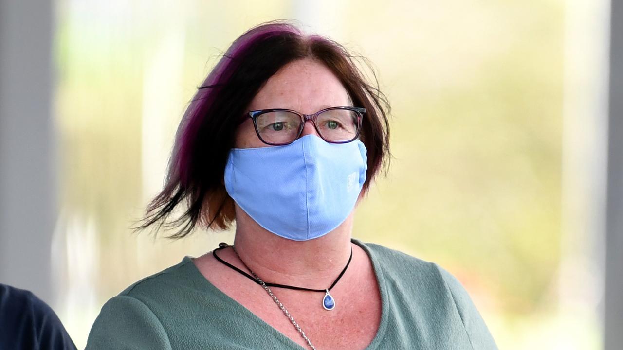 Karen Vanden Drieson leaves Brisbane Supreme Court after giving evidence in the trial of Bernard John Robbins. Picture: Dan Peled/NCA NewsWire