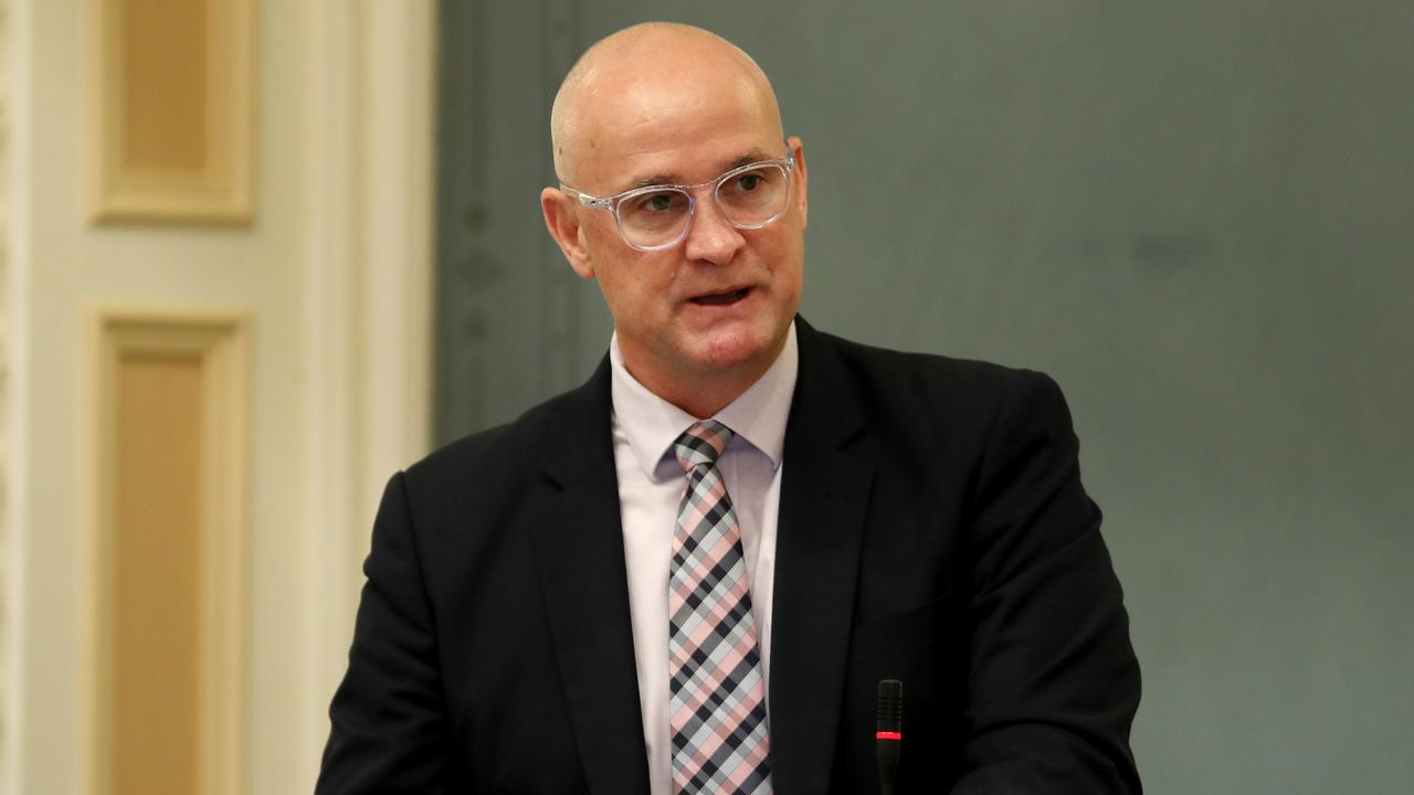 Minister for Regional Development and Manufacturing and Minister for Water Glenn Butcher speaking in parliament. Pics Tara Croser.