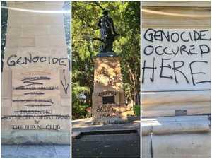 Floyd verdict triggers graffiti attack on Brisbane statues