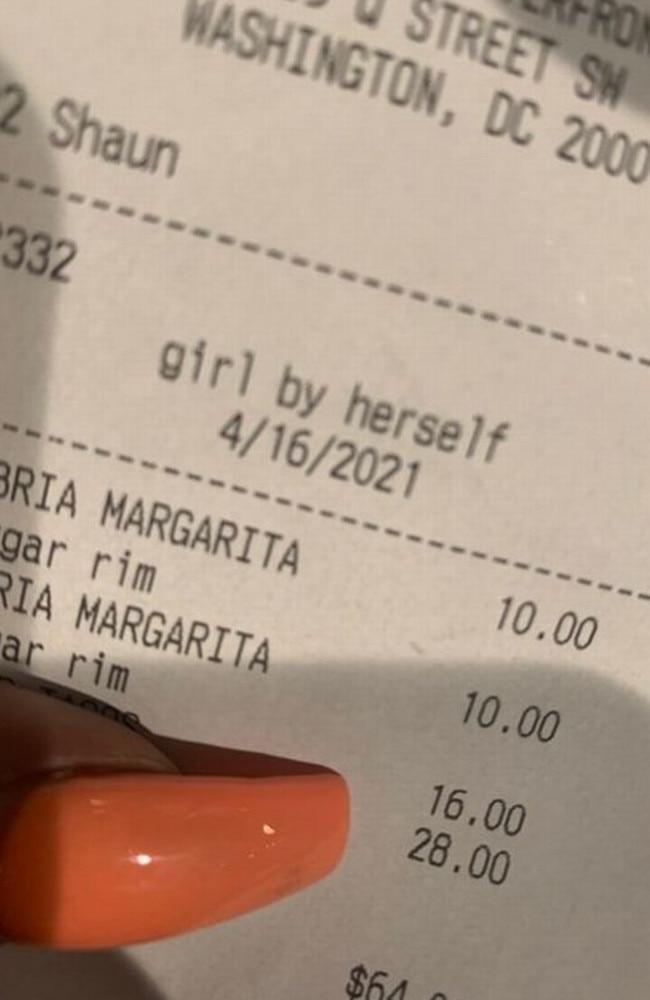Woman fumes at description on receipt. Picture: Twitter/GotMiAAngel