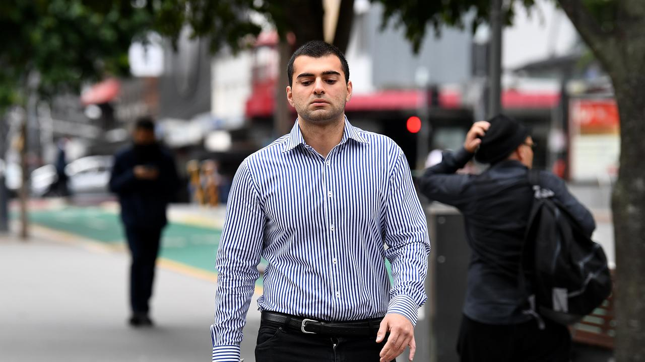 Ali Ebrahimi arrives at the District Court in Brisbane. Picture: Dan Peled