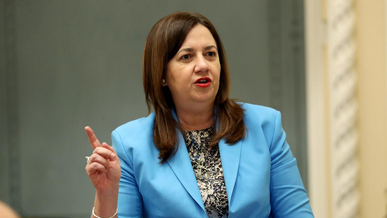 Premier Annastacia Palaszczuk urges anyone who has been to locations visited by a COVID-positive plane cleaner in New Zealand to get tested and quarantine. Picture: Tara Croser.
