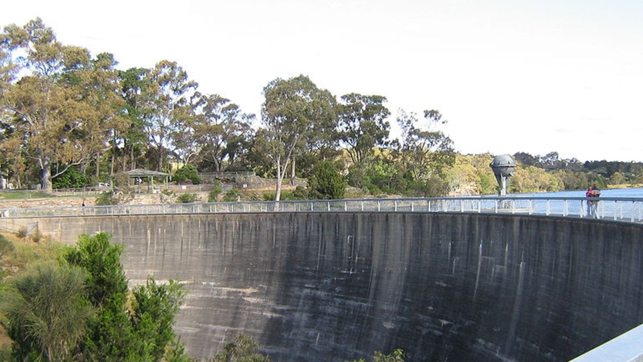 The Whispering Wall, near Williamstown, in the Barossa Valley.