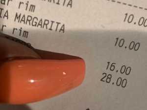 Woman fumes at description on receipt