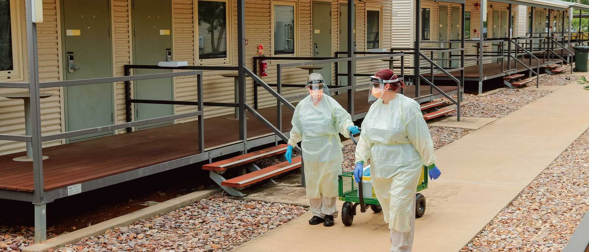 Four new cases of COVID-19, all in returned travellers from India, have tested positive at the Howard Springs quarantine facility.