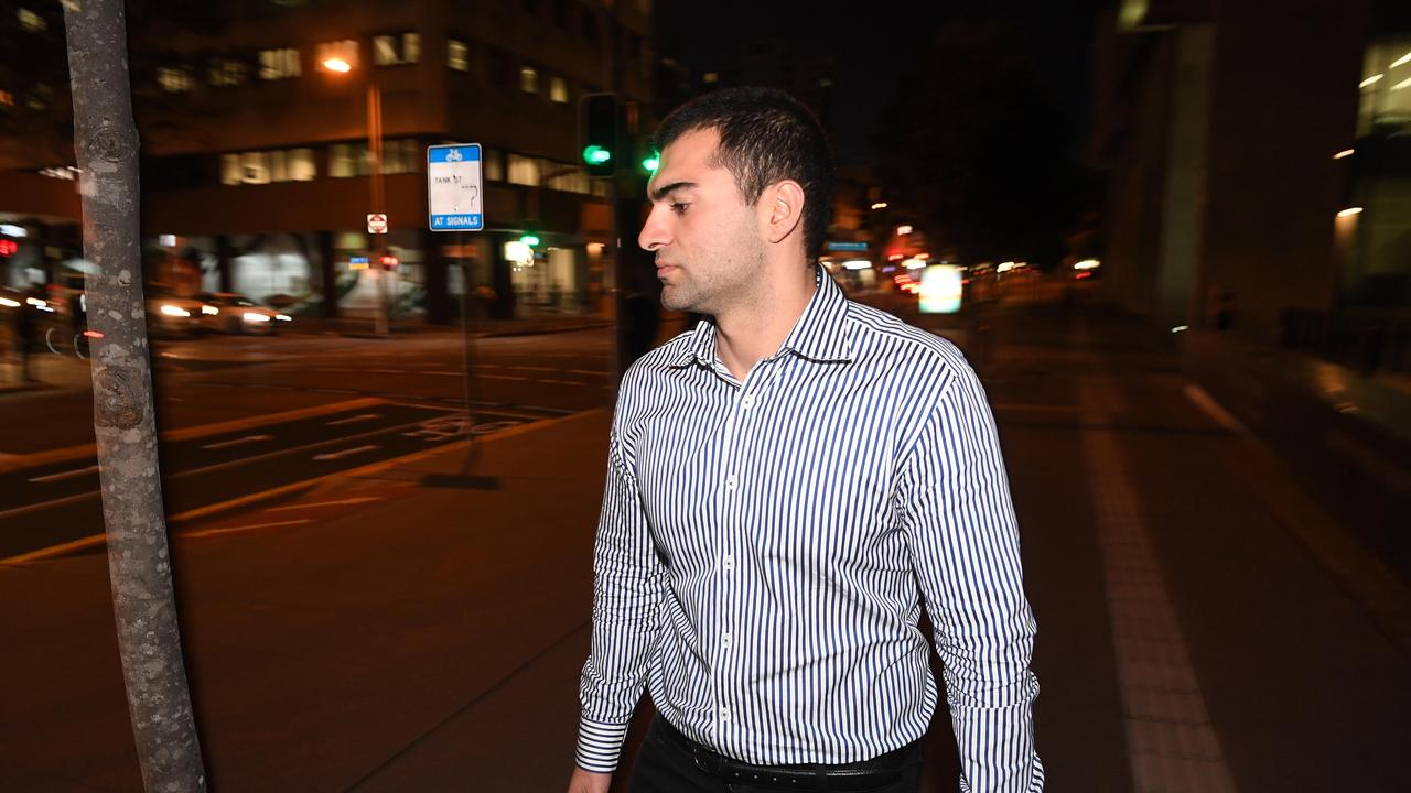 Ali Ebrahimi leaves the District Court in Brisbane. Picture: NCA NewsWire / Dan Peled