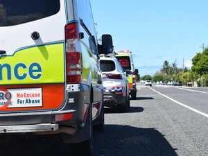 Driver hospitalised after vehicle hits pole