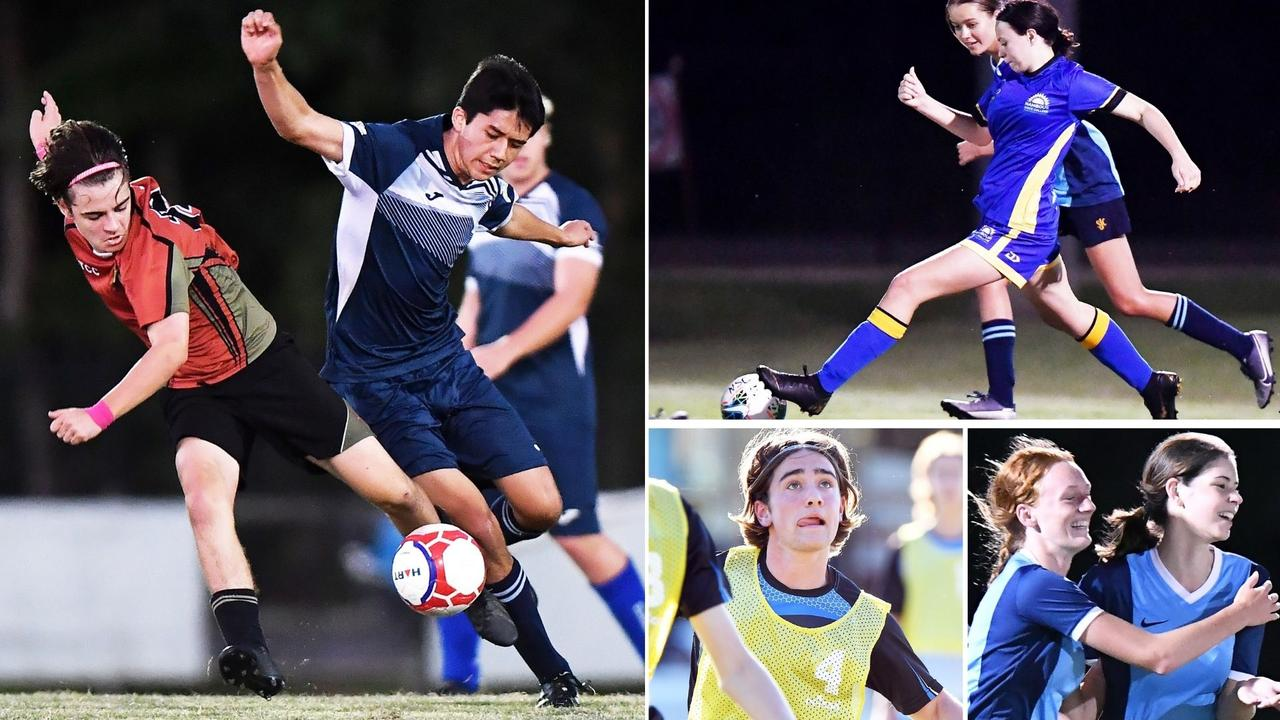 St John's College, Siena College, St Teresa's and Nambour State College face off in the Sunshine Coast Schools Football finals. Picture: Patrick Woods