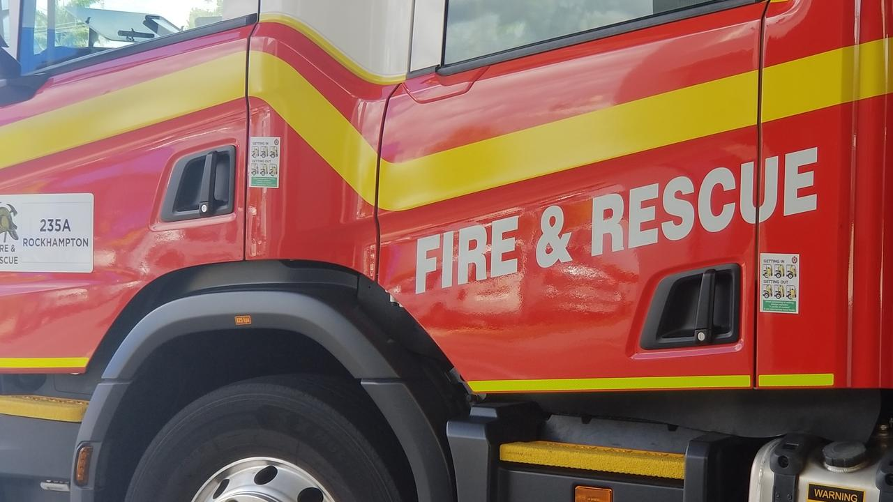 Three fire crews are on the scene of a house fire on the Sunshine Coast.
