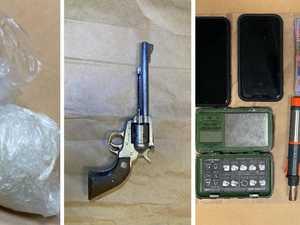 Police make highway gun, drug bust