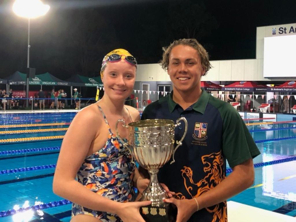 Sunshine Coast Grammar's Lucy Dring and Zac Tabuai.