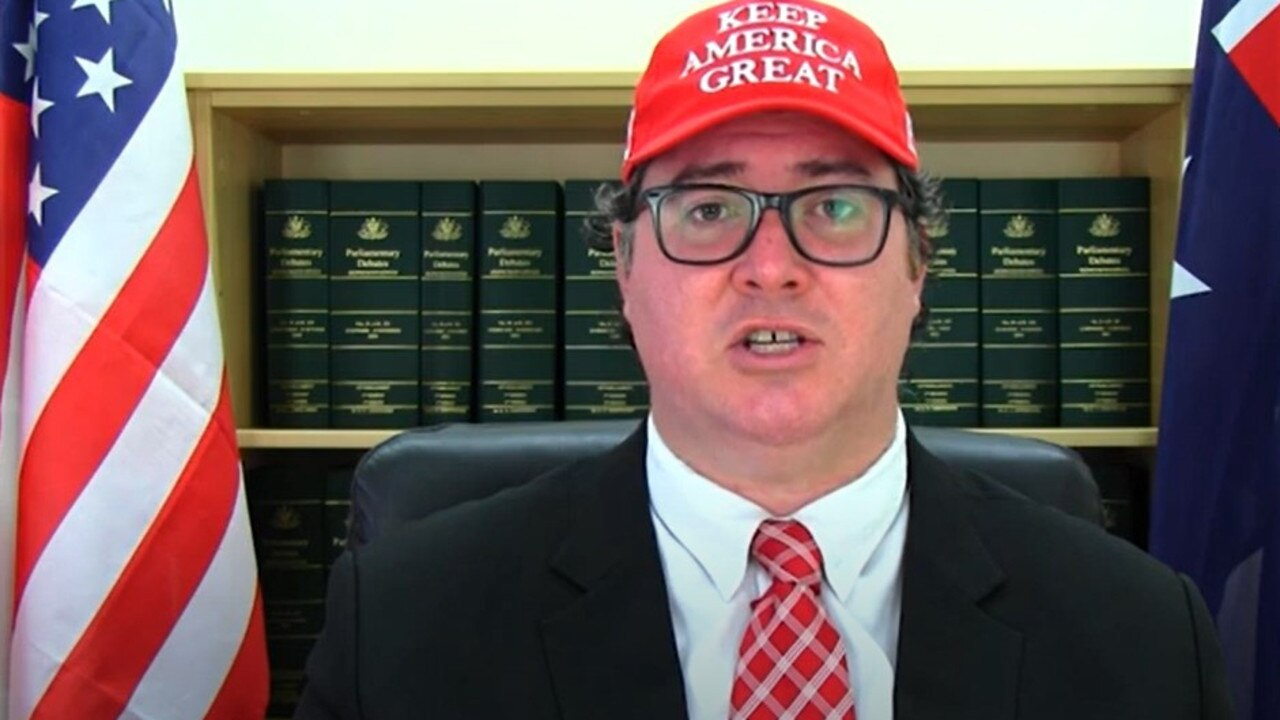 Dawson MP George Christensen is asking US President Donald Trump to pardon Julian Assange before he leaves the White House. Picture: George Christensen, YouTube.
