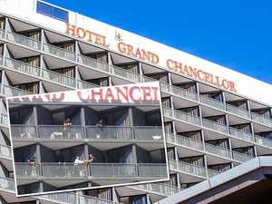 Video: COVID hotel guests caught in balcony breach