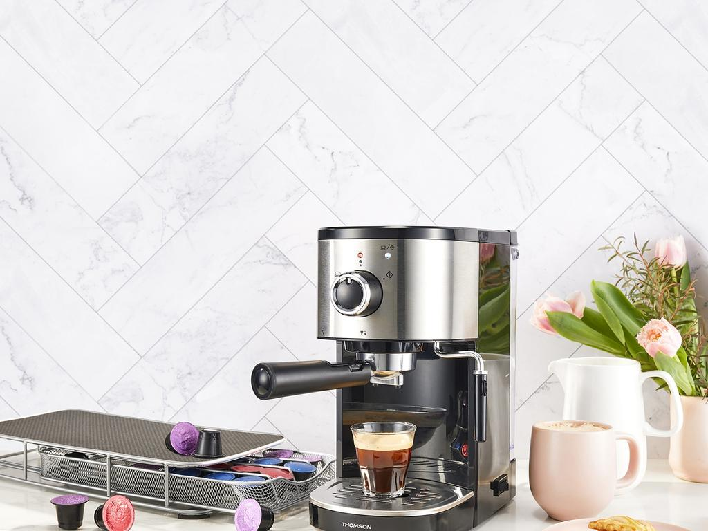 The coffee machine, which will sell for $99.99, takes Nespresso coffee pods. Picture: Supplied