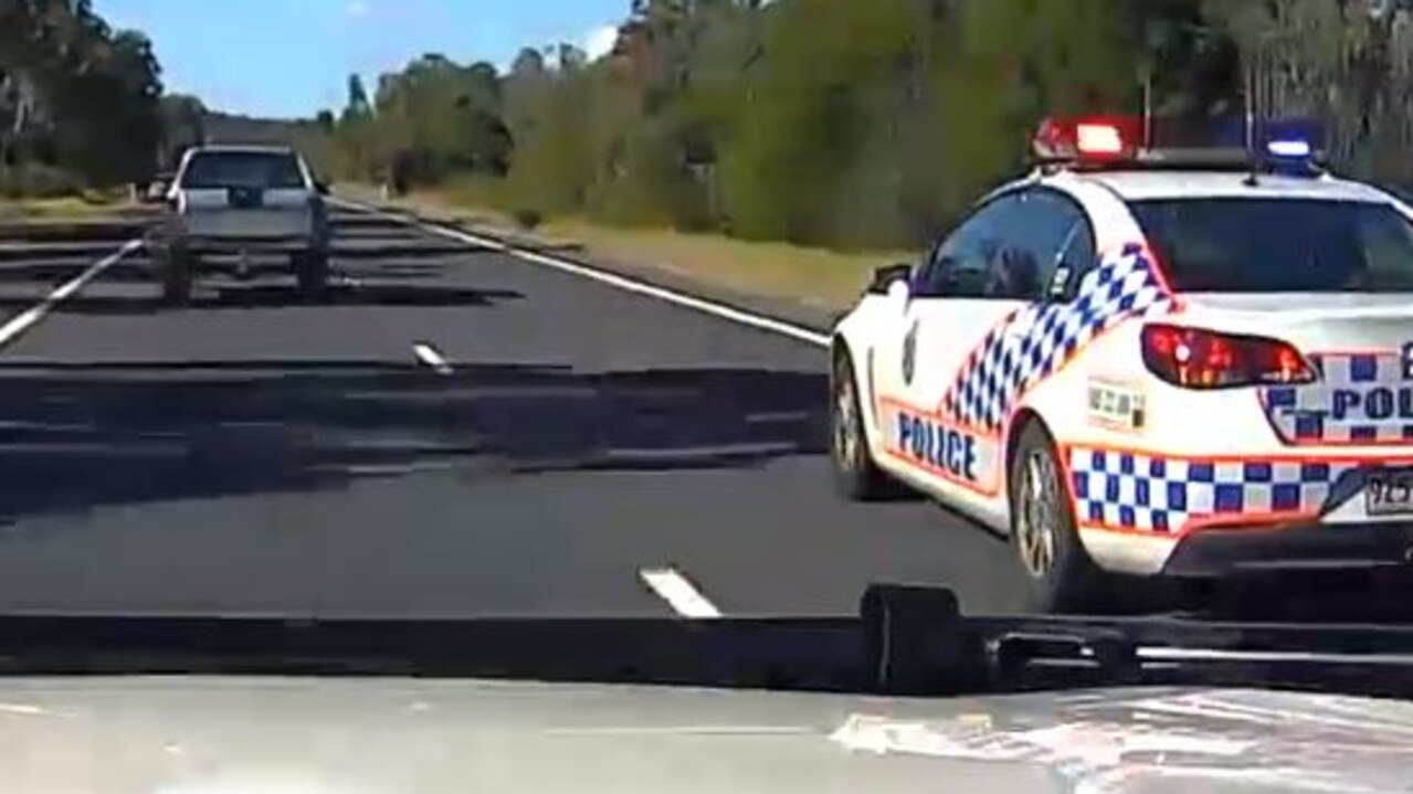 Police in pursuit of Ricky Maddison after he had avoided road stingers.