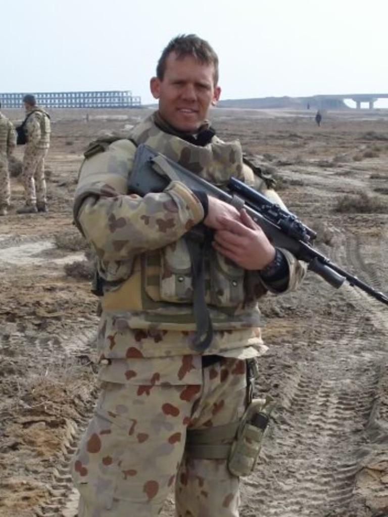 Former corporal in the Australian Army, Shaun Spain.